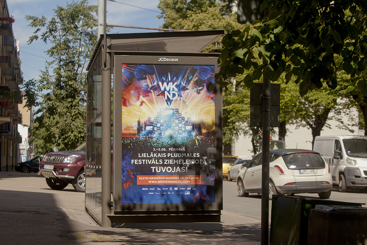 Weekend Festival Baltic 2017, outdoor campaign