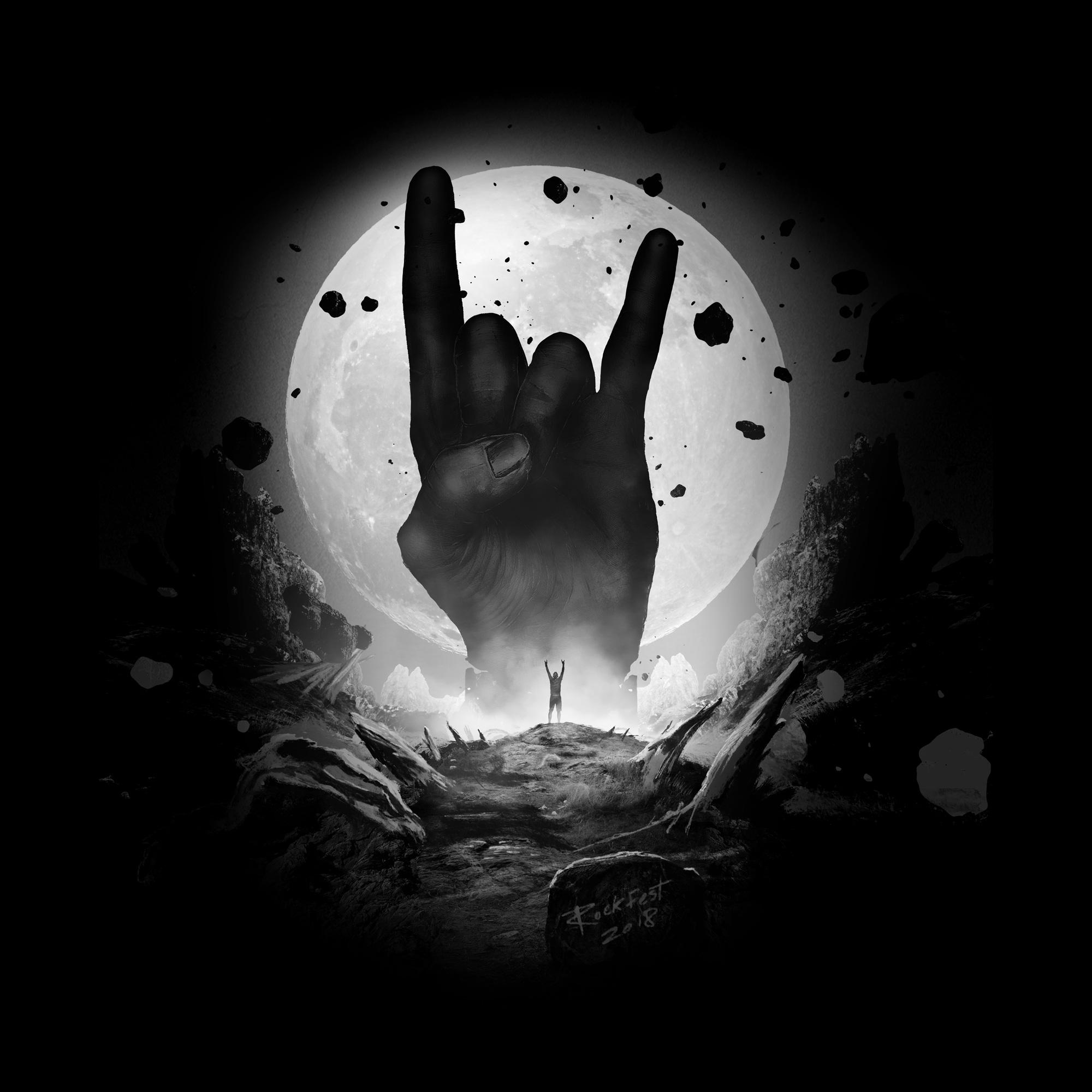 """Moon"", Rockfest 2018 merchandise artwork"