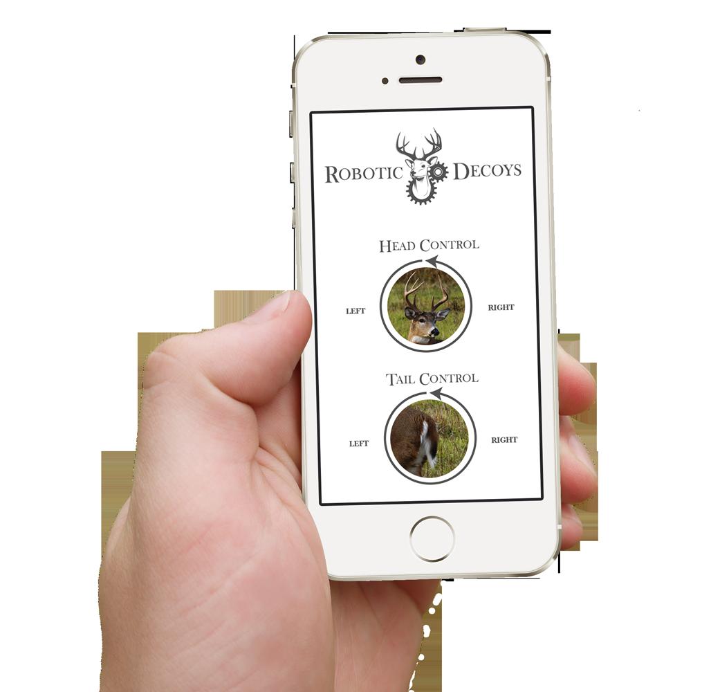 robotic decoys iphone app on display