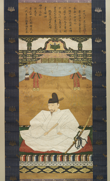 Image credit: Portrait of Toyotomi Hideyoshi, 1599. Ink and colors on silk. Courtesy of Asian Art Museum of San Francisco, Gift and Purchase from the Harry G.C. Packard Collection Charitable Trust in honor of Dr. Shujiro Shimada; The Avery Brundage Collection, 1991.61. Photograph © Asian Art Museum of San Francisco.