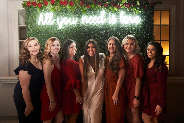 How sweet is this bride-to-be with her bridesmaids at her engagement party. Love this backdrop...the perfect photo op! Very honored to be part of this wedding!!! planner:: @vcweddingsandevents #bridetobe #engagementparty #engaged #allyouneedislove #backdrop #bridesmaids #bride #scottsdalewedding #weddingphotographer #phoenixphotographer #arizonaphotographer