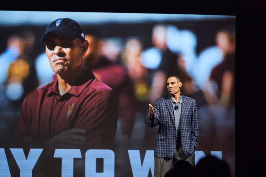 Herm Edwards Speaking at a corporate event