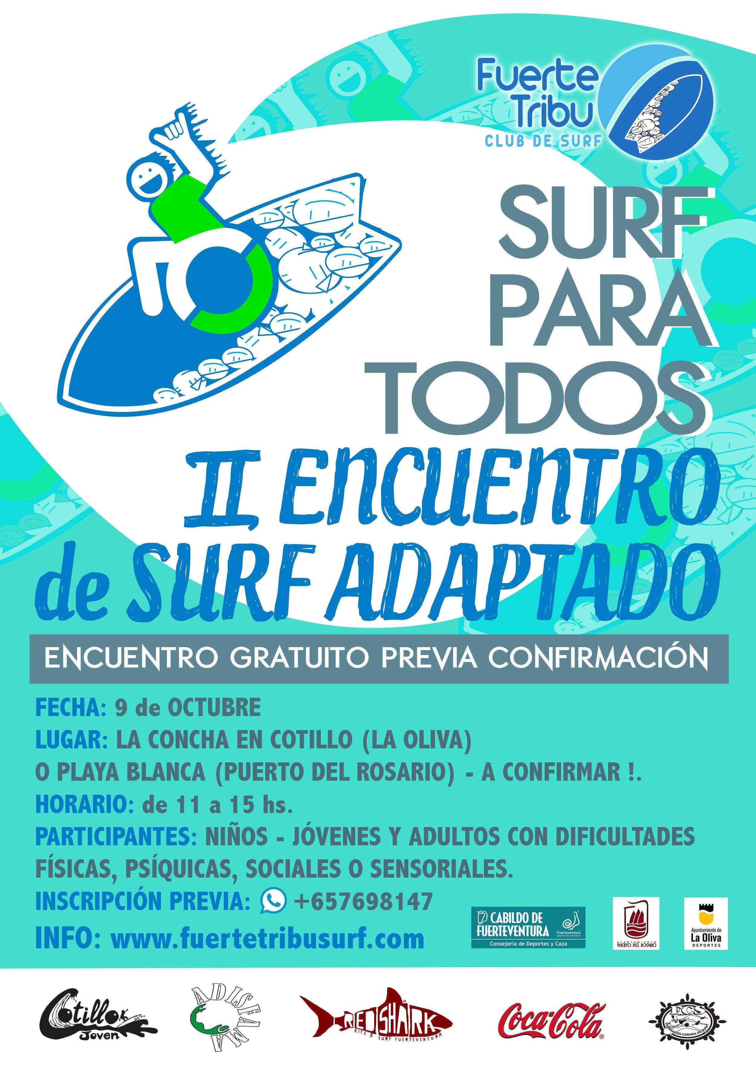 """"""" II Encuentro de surf para todos , SURF ADAPTADO"""""""