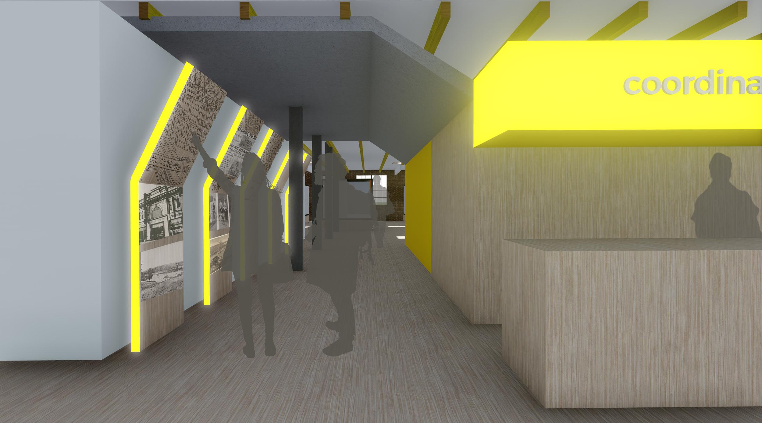 Reception/entry hallway on Level 2