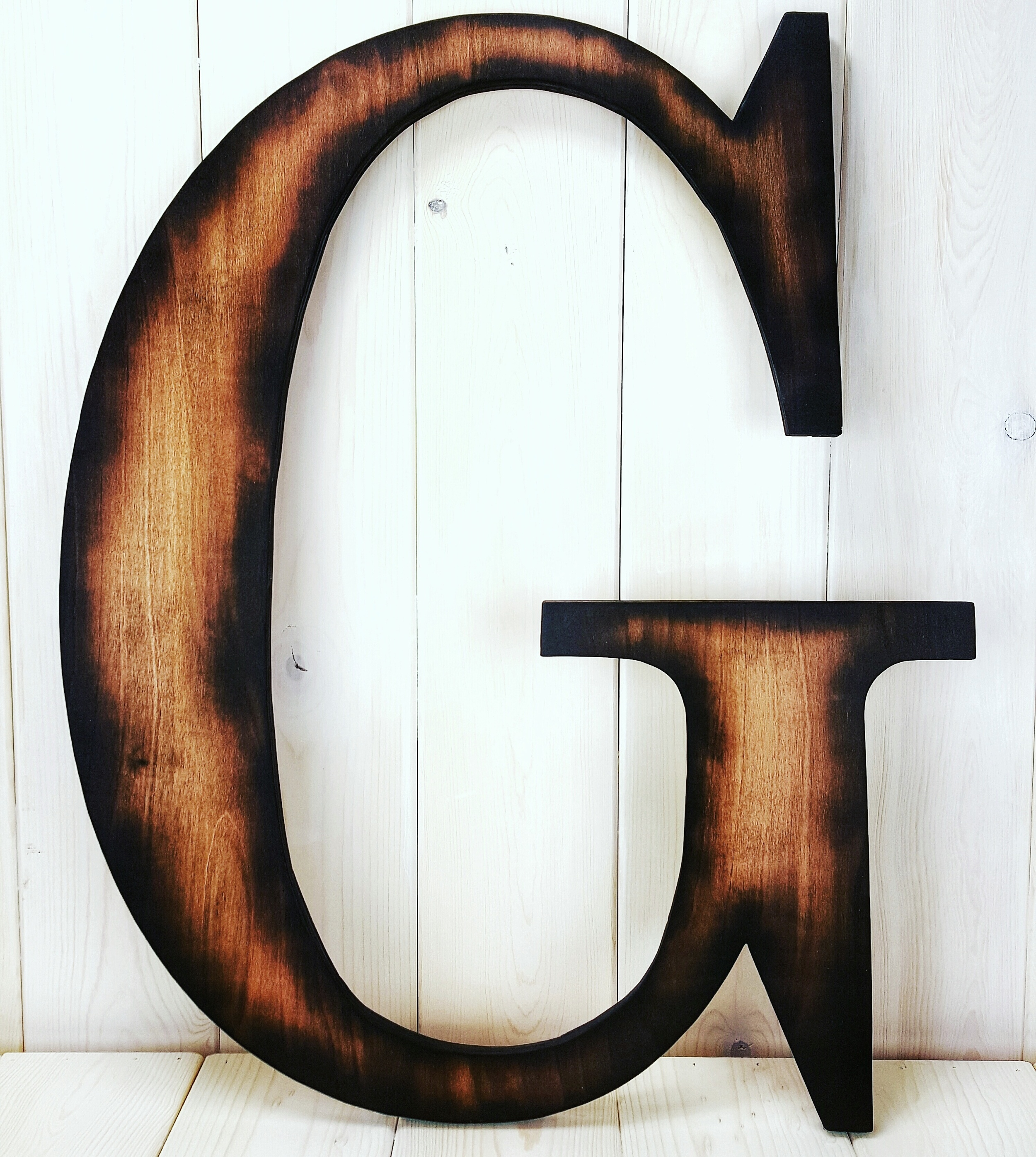 Large Woodburned G