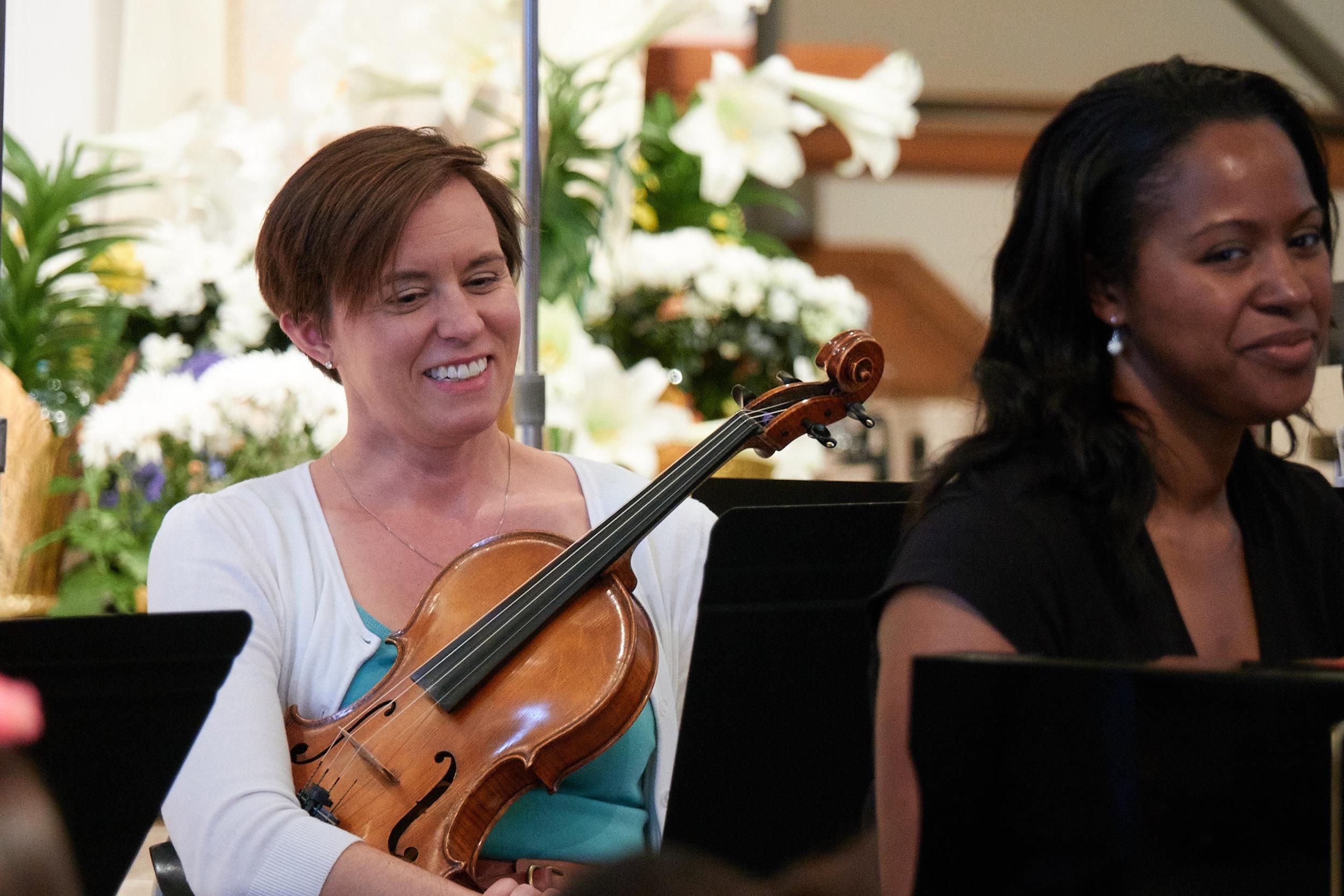 Mary Dausch, viola, and Elizabeth Hill, piano
