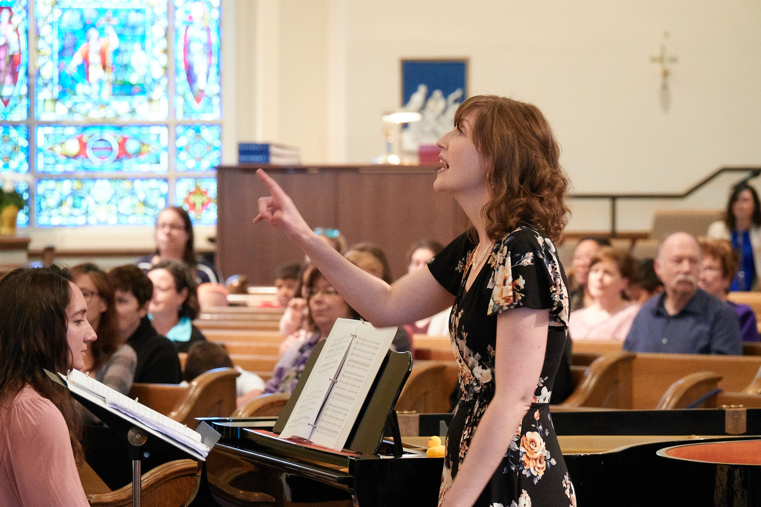 Larissa Sanders, piano, and Heather Adelsberger, conductor