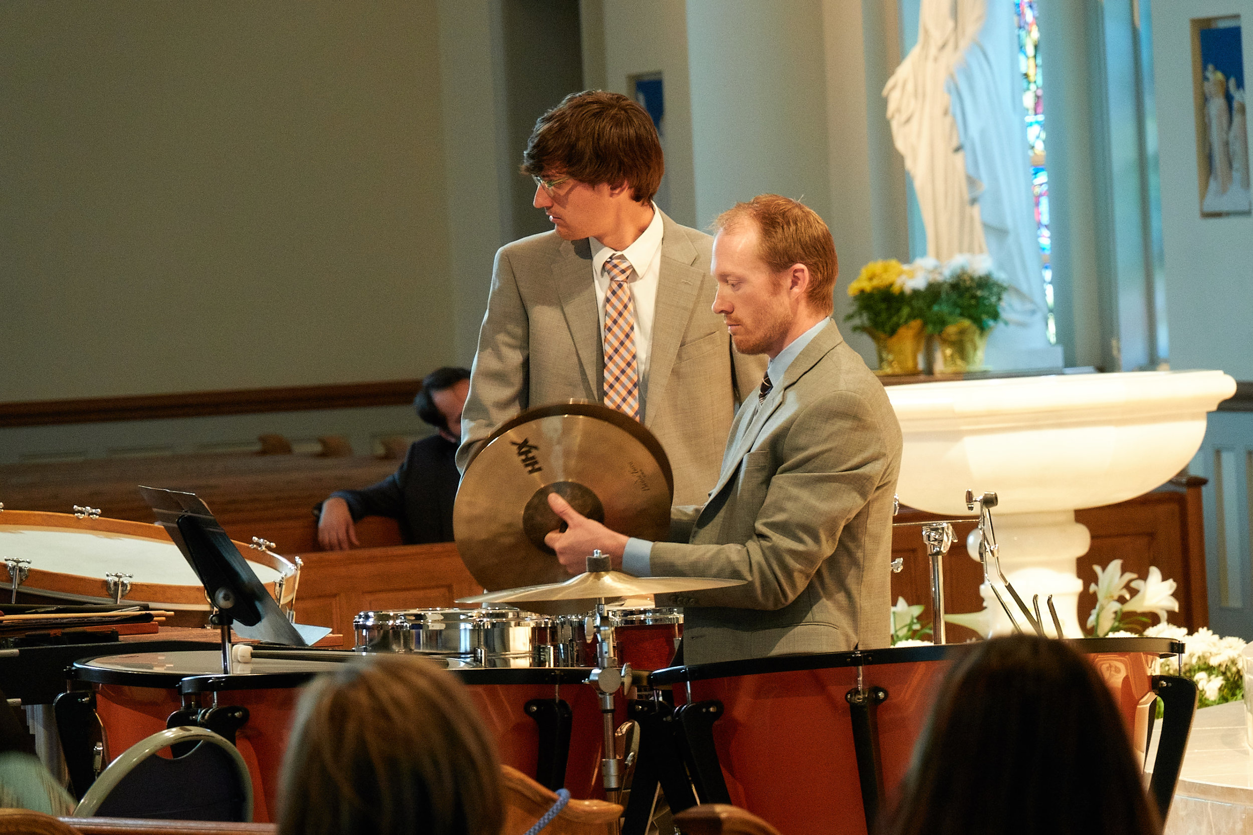 Percussionists Eric Lewinski and Tim McKay play the Bartok.