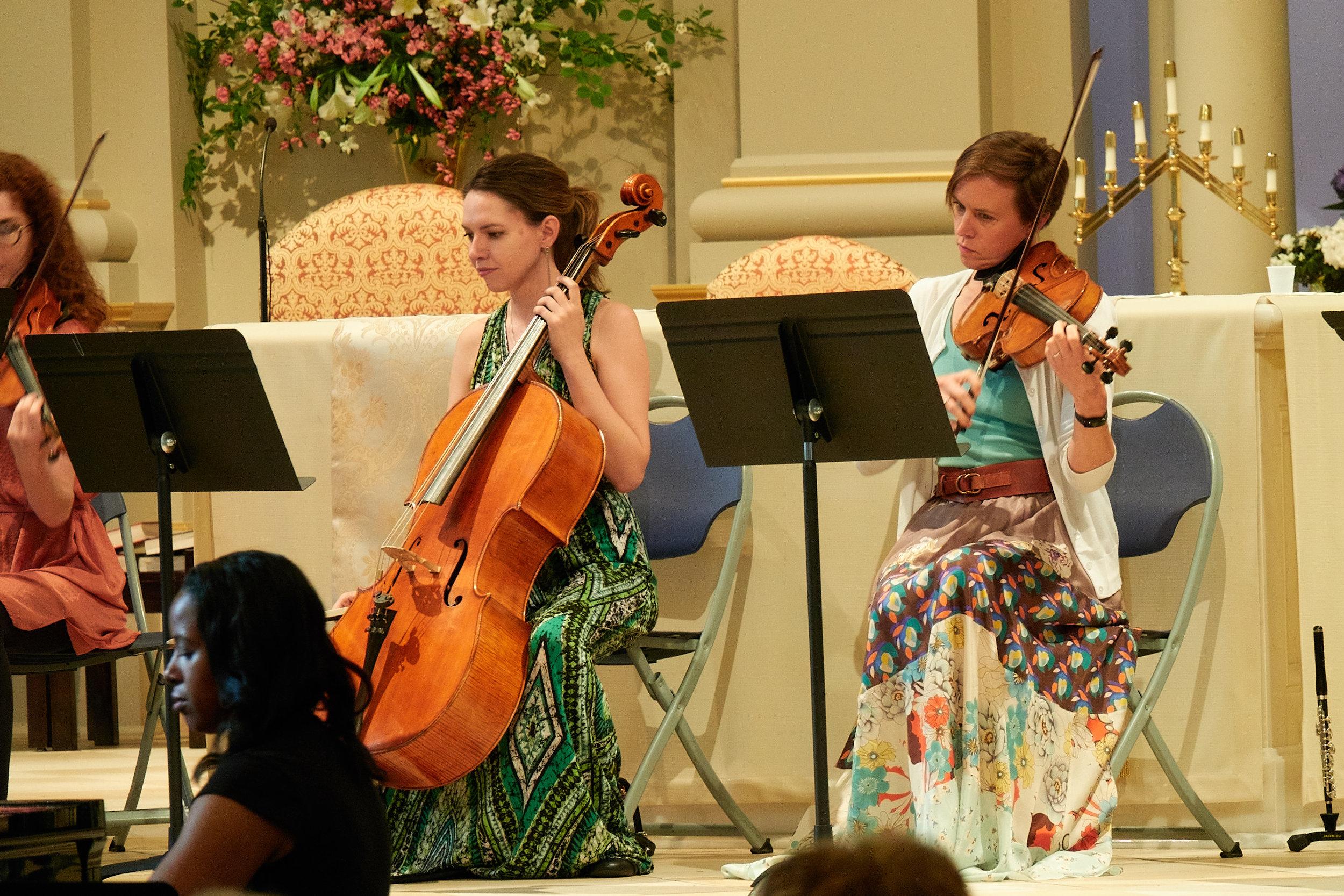 Devree Lewis, cello, and Mary Dausch, viola