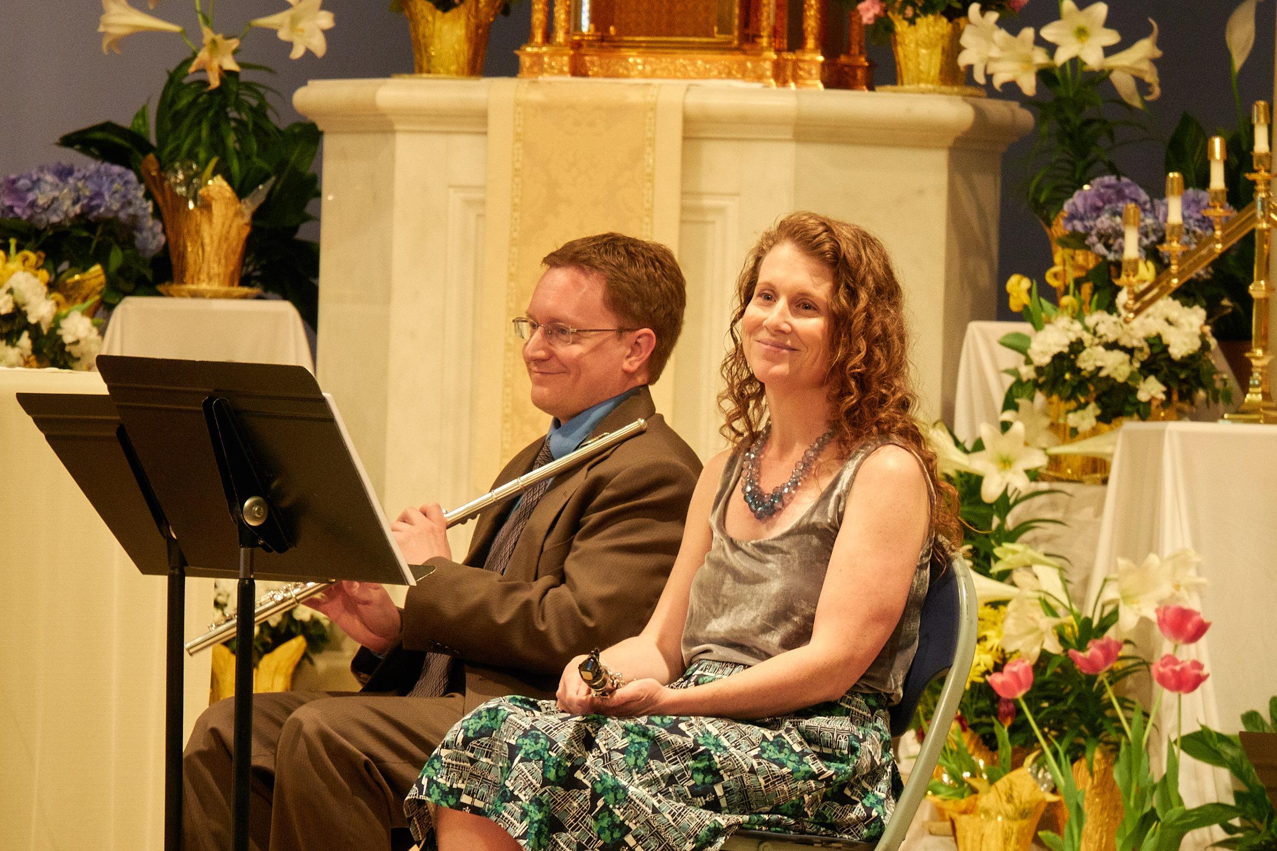 Denis Karp, flute, and Brooke Emery, clarinet