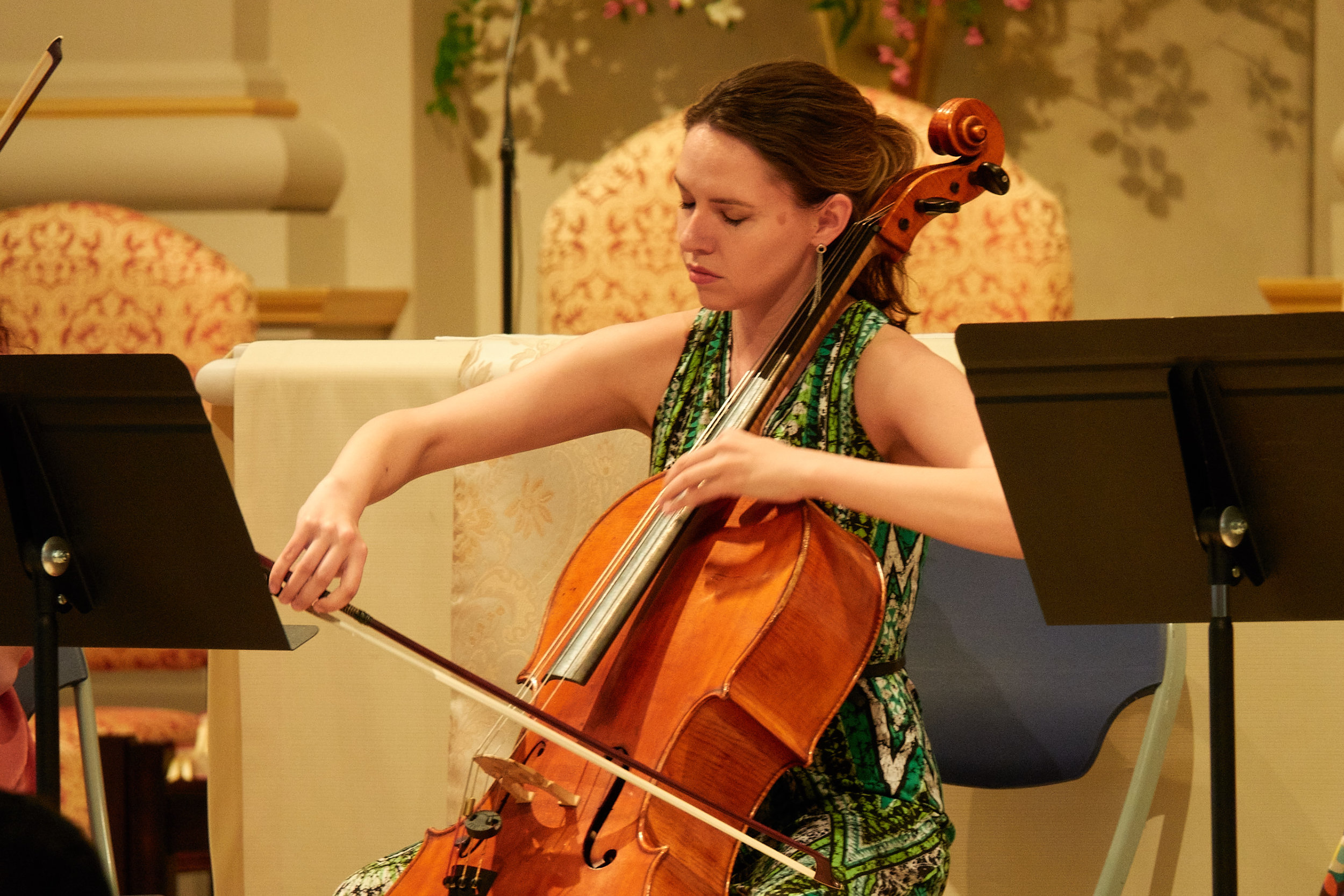 "Devree Lewis, cello, playing ""The Swan"""
