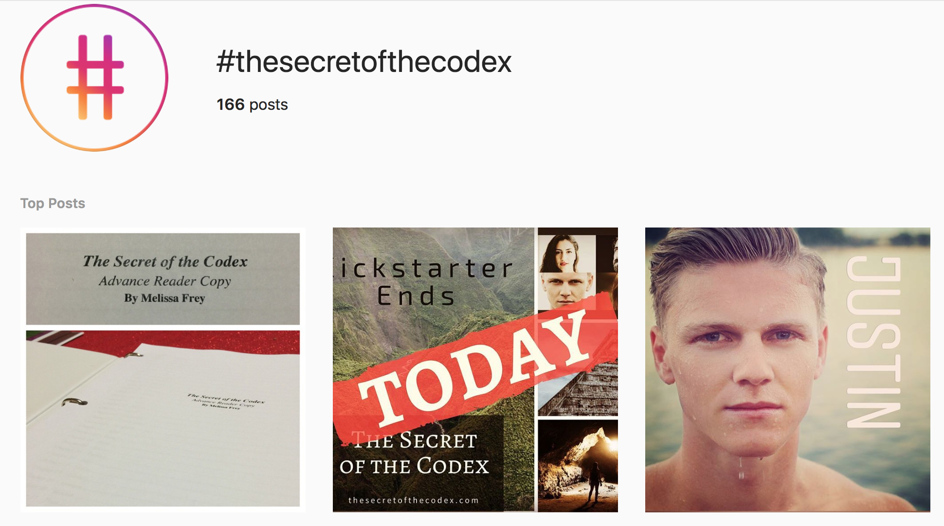 https://www.instagram.com/explore/tags/thesecretofthecodex/