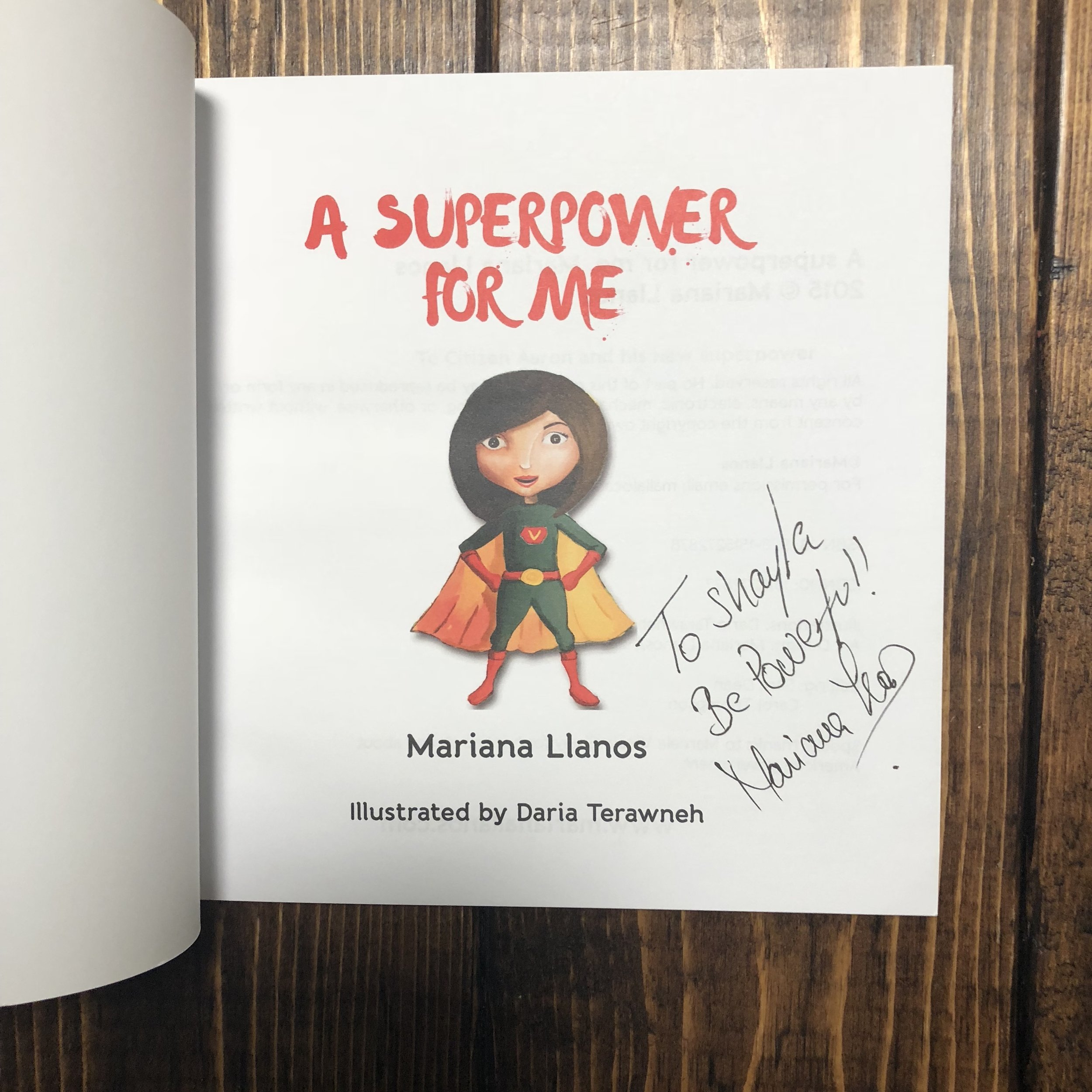 A Superpower for Me by Mariana Llanos