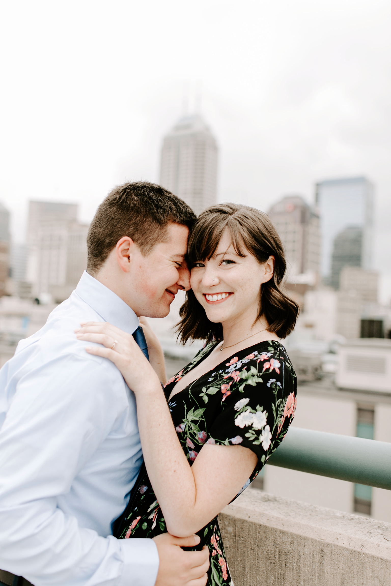 Emily and Davis Engagment Session Downtown Indianapolis Rooftop Emily Elyse Wehner Photography LLC-6.jpg