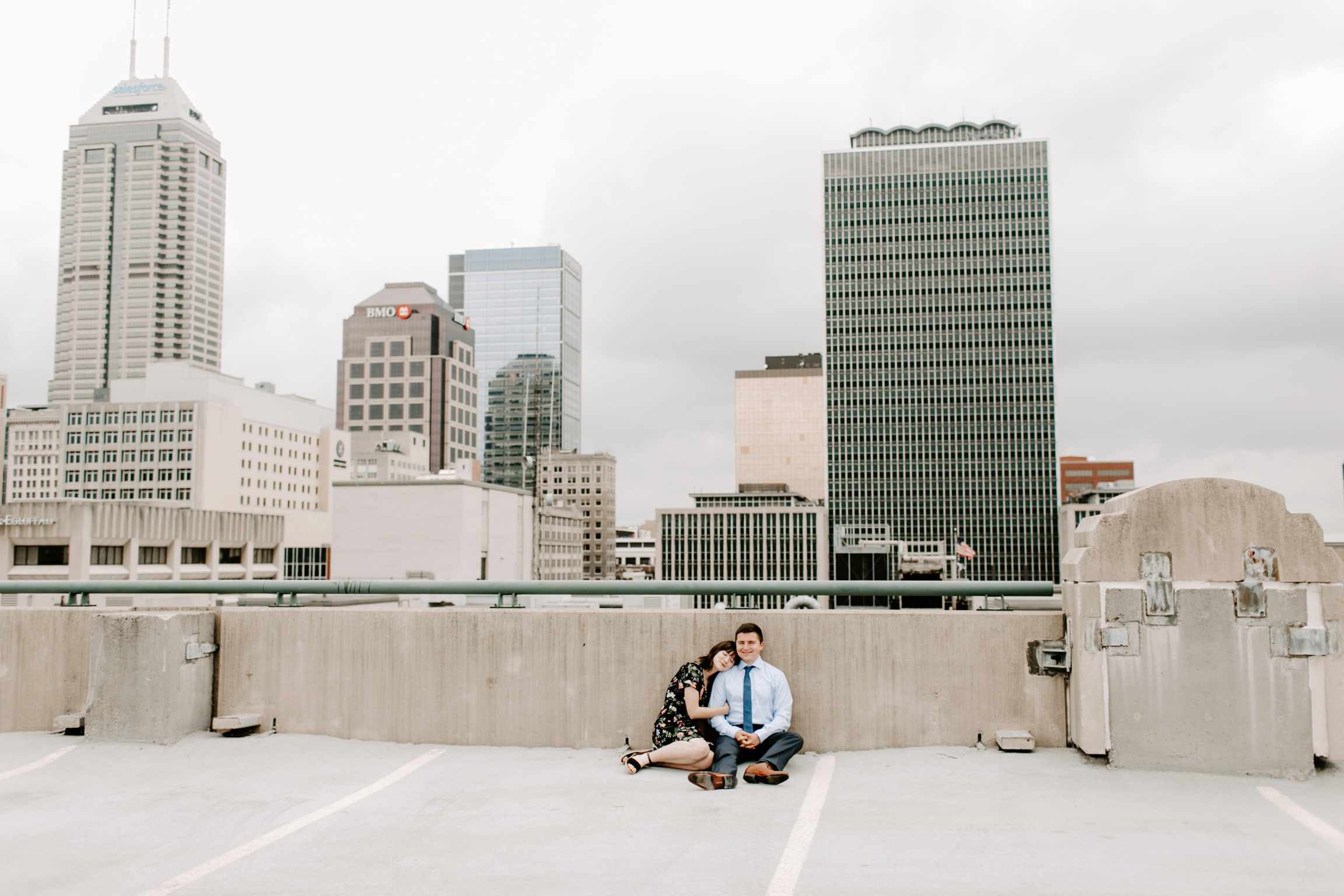 Emily and Davis Engagment Session Downtown Indianapolis Rooftop Emily Elyse Wehner Photography LLC-28.jpg