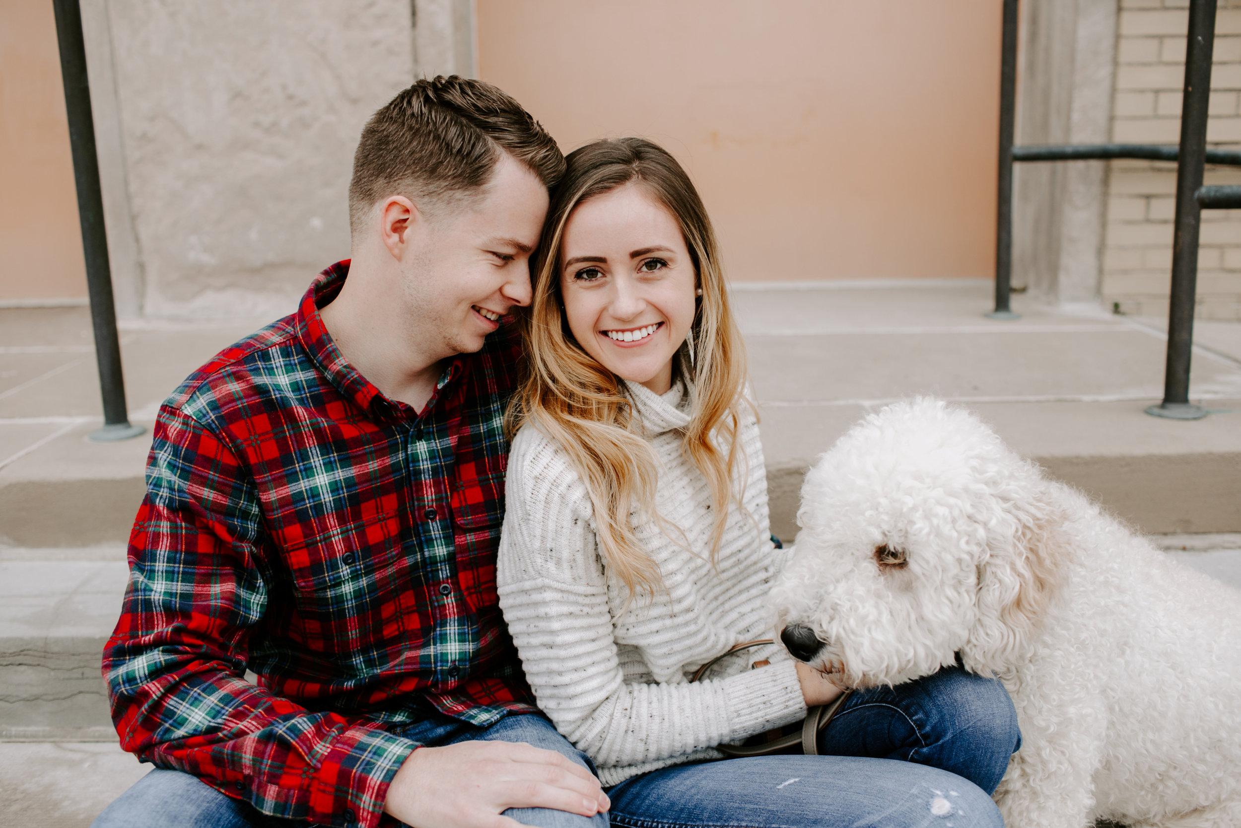 Hallie and Tyler Couple Photos downtown Broad Ripple Indiana Emily Elyse Wehner Photography LLC-7.jpg