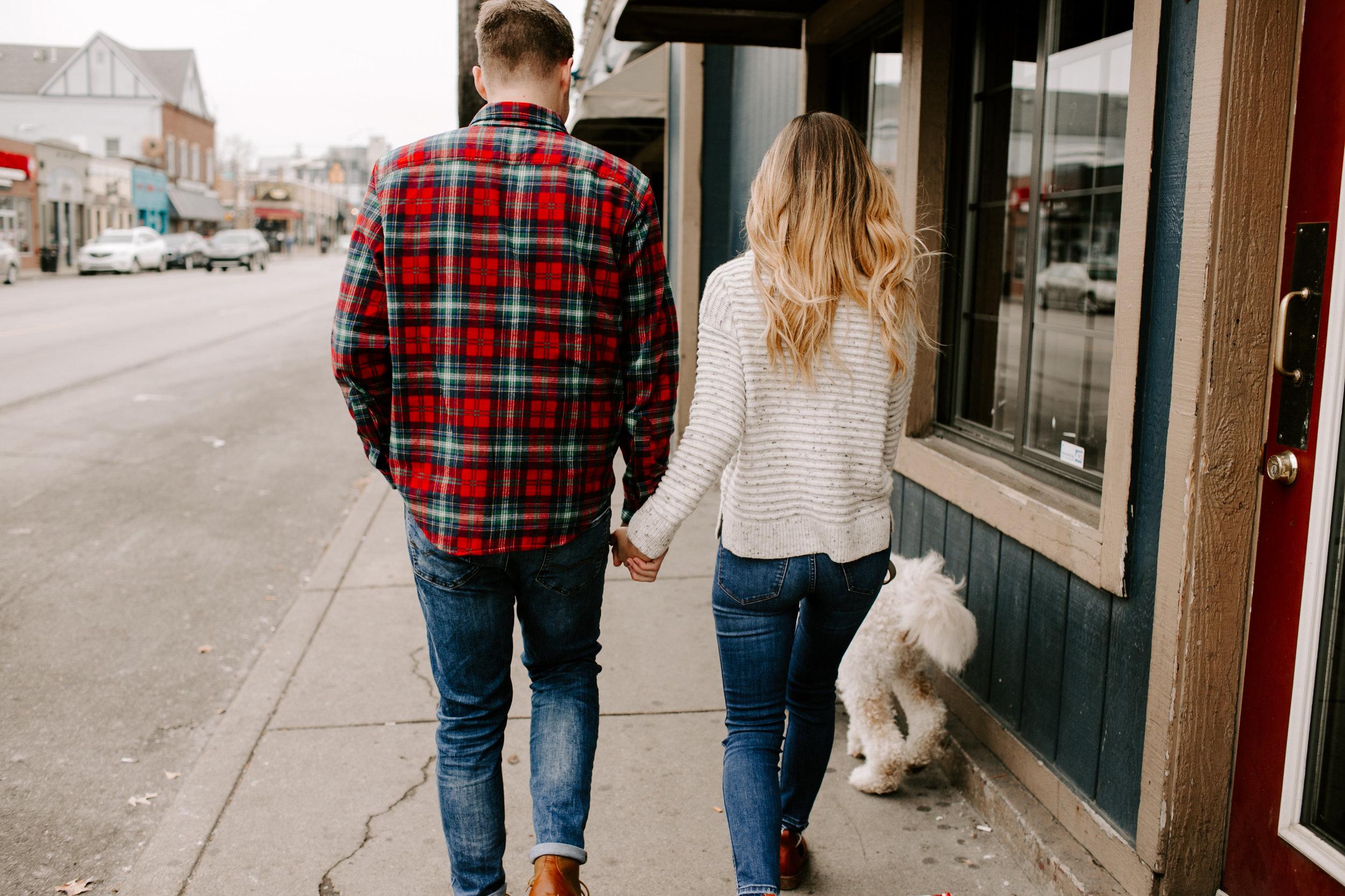 Hallie and Tyler Couple Photos downtown Broad Ripple Indiana Emily Elyse Wehner Photography LLC-40.jpg