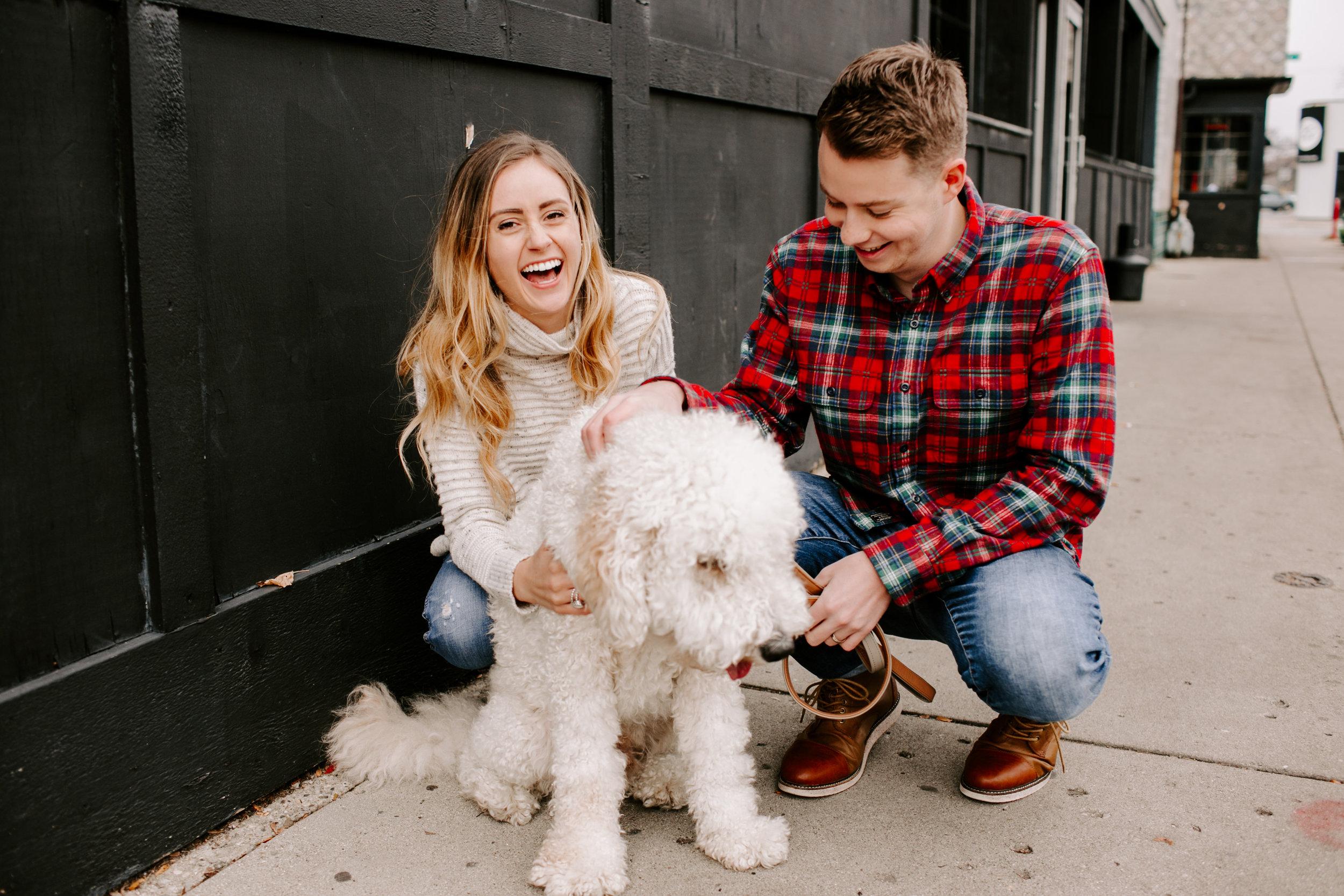 Hallie and Tyler Couple Photos downtown Broad Ripple Indiana Emily Elyse Wehner Photography LLC-88.jpg