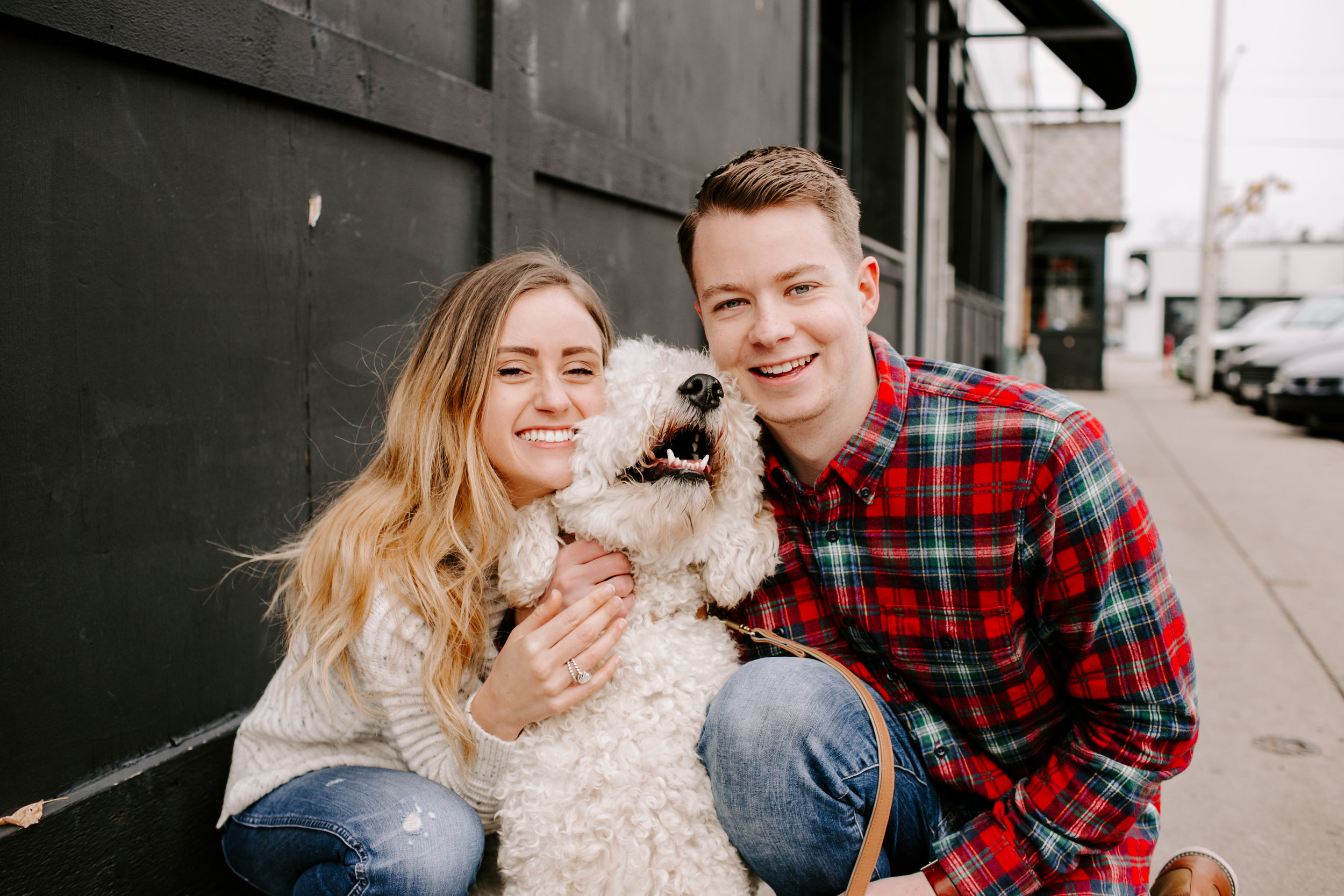 Hallie and Tyler Couple Photos downtown Broad Ripple Indiana Emily Elyse Wehner Photography LLC-90.jpg