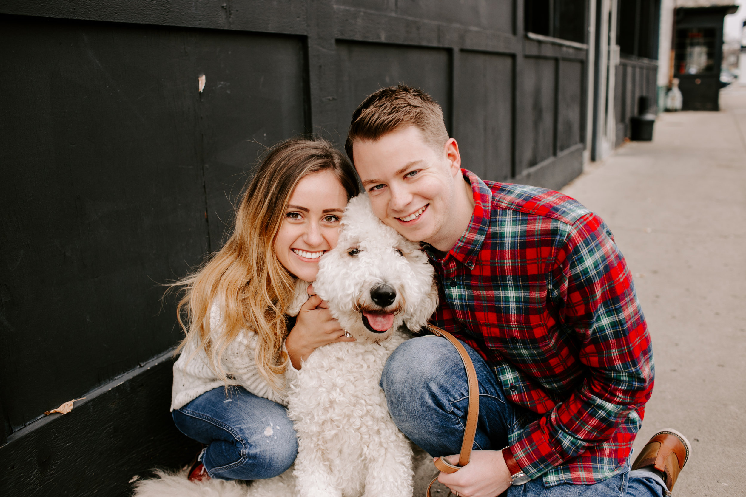 Hallie and Tyler Couple Photos downtown Broad Ripple Indiana Emily Elyse Wehner Photography LLC-96.jpg