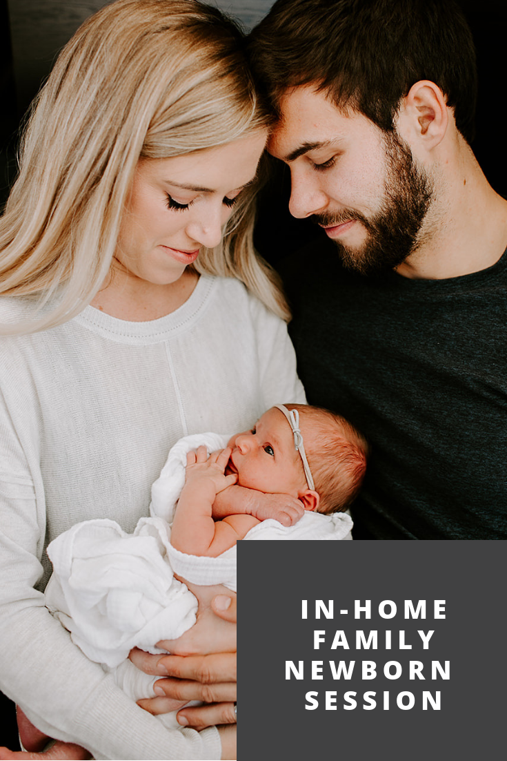 In home family newborn session by Emily Elyse Wehner, Indiananpolis, Indiana, family lifestyle photographer #newbornphotography #familyphotography #lifestylephotography