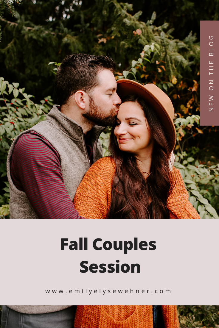 Browse the blog of this fall couples session in Indianapolis with Emily Elyse Wehner Photography