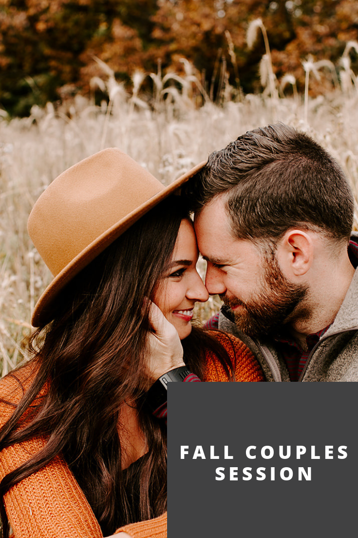 Browse the blog of this fall couples session in Indianapolis with Emily Elyse Wehner Photography #photographer #couplessession