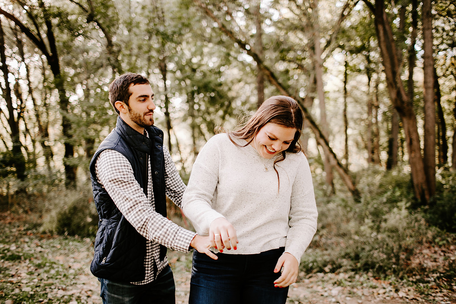 Jackie and Adam 100 Acre Woods Indianapolis Indiana by Emily Elyse Wehner Photography LLC-68.jpg