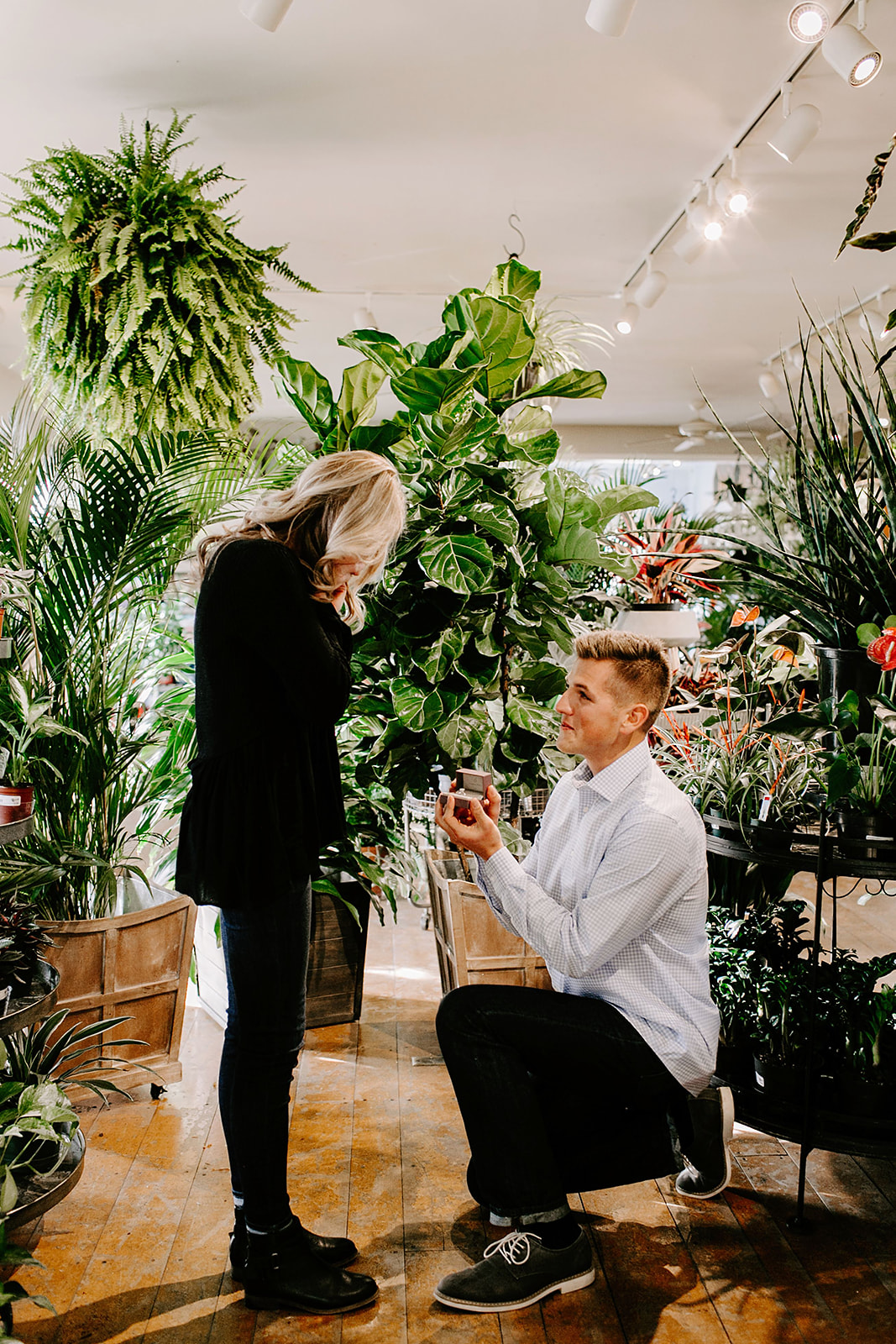 Lindy and JT Proposal at Allisonville Nursery in Indianapolis Indiana by Emily Elyse Wehner Photography LLC-38.jpg