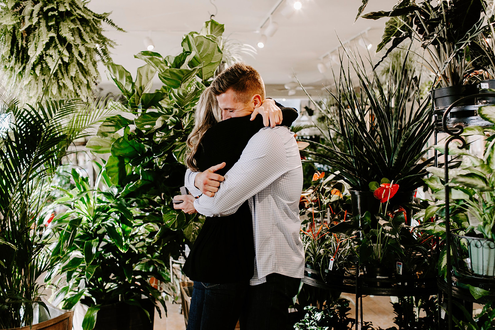 Lindy and JT Proposal at Allisonville Nursery in Indianapolis Indiana by Emily Elyse Wehner Photography LLC-41.jpg