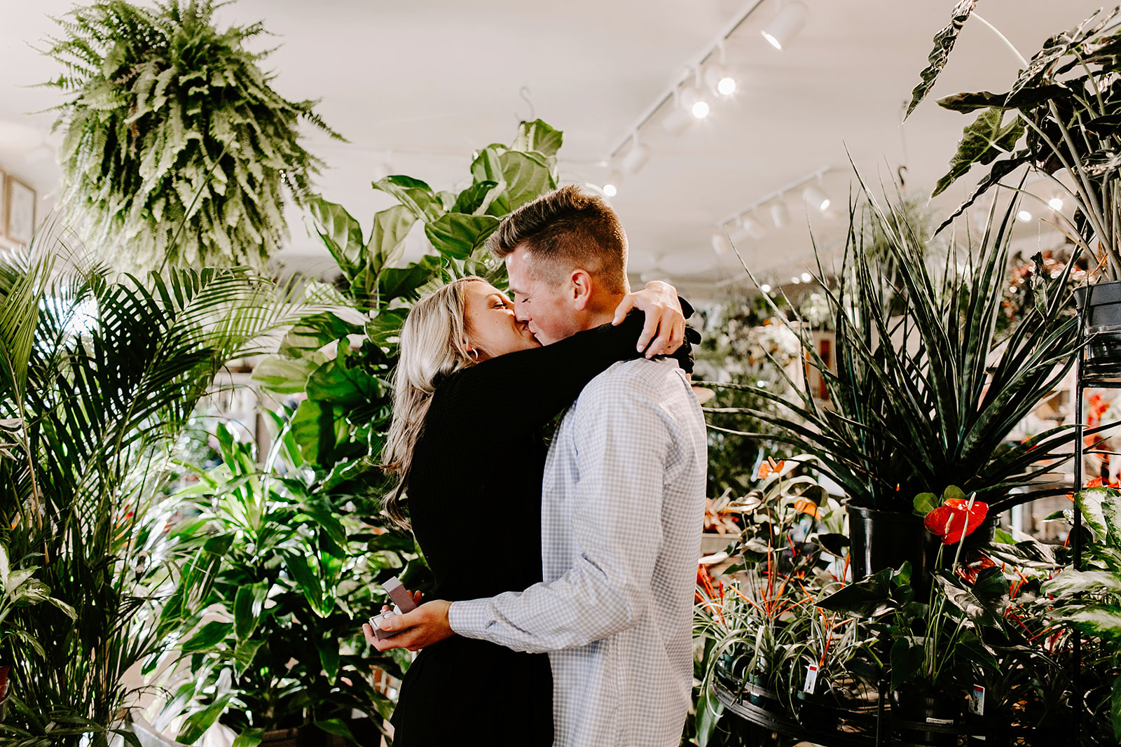 Lindy and JT Proposal at Allisonville Nursery in Indianapolis Indiana by Emily Elyse Wehner Photography LLC-48.jpg