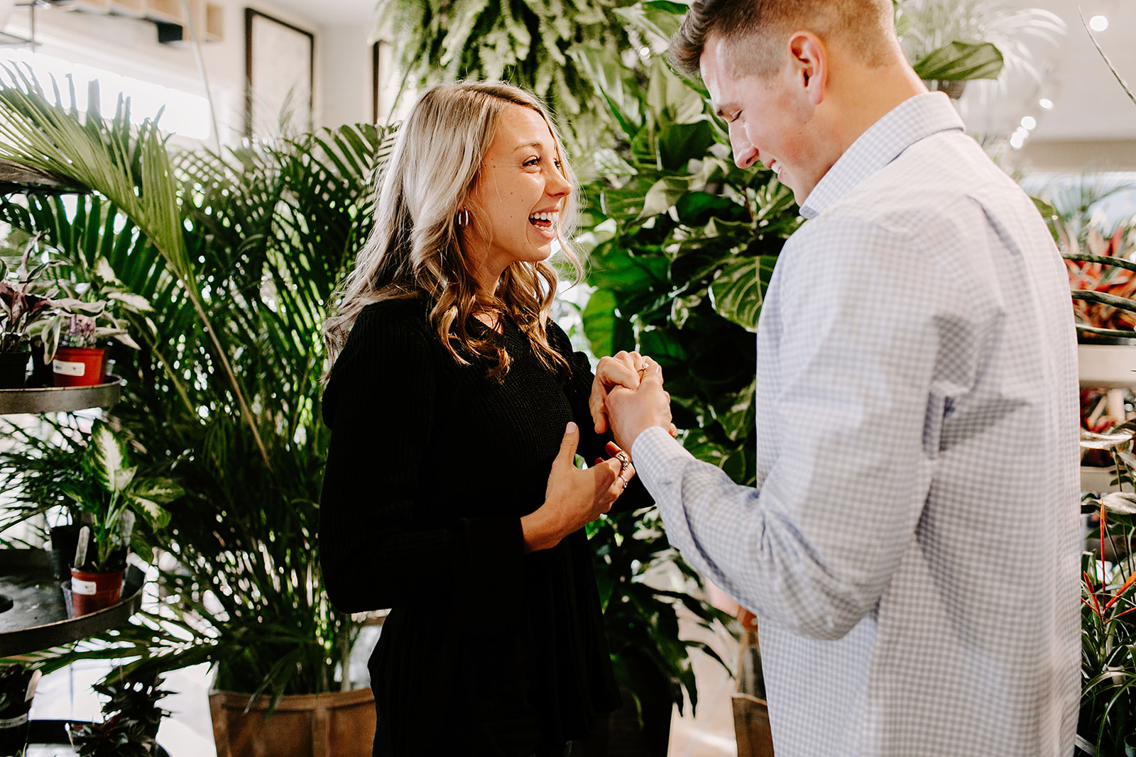 Lindy and JT Proposal at Allisonville Nursery in Indianapolis Indiana by Emily Elyse Wehner Photography LLC-52.jpg