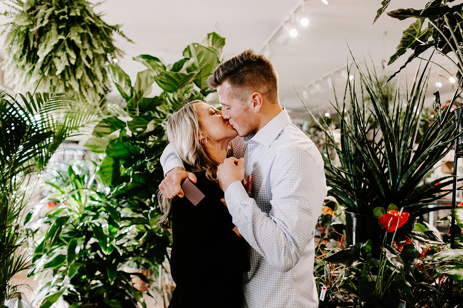 Lindy and JT Proposal at Allisonville Nursery in Indianapolis Indiana by Emily Elyse Wehner Photography LLC-54.jpg