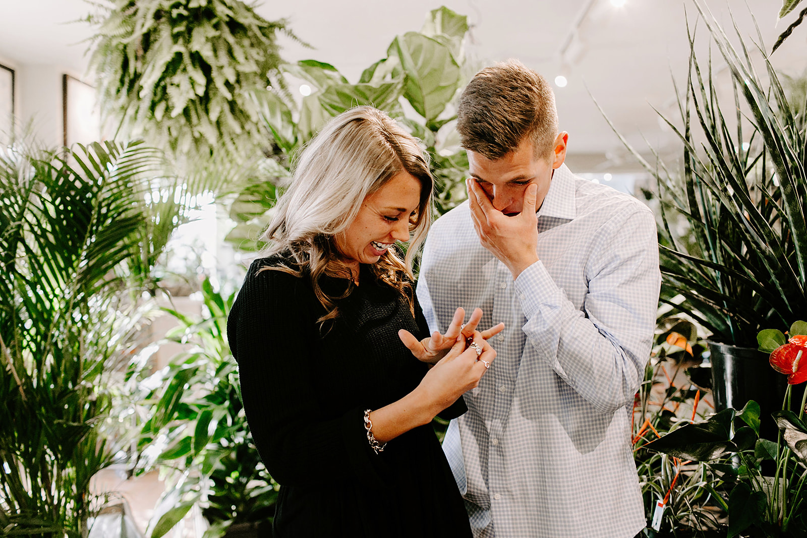 Lindy and JT Proposal at Allisonville Nursery in Indianapolis Indiana by Emily Elyse Wehner Photography LLC-65.jpg