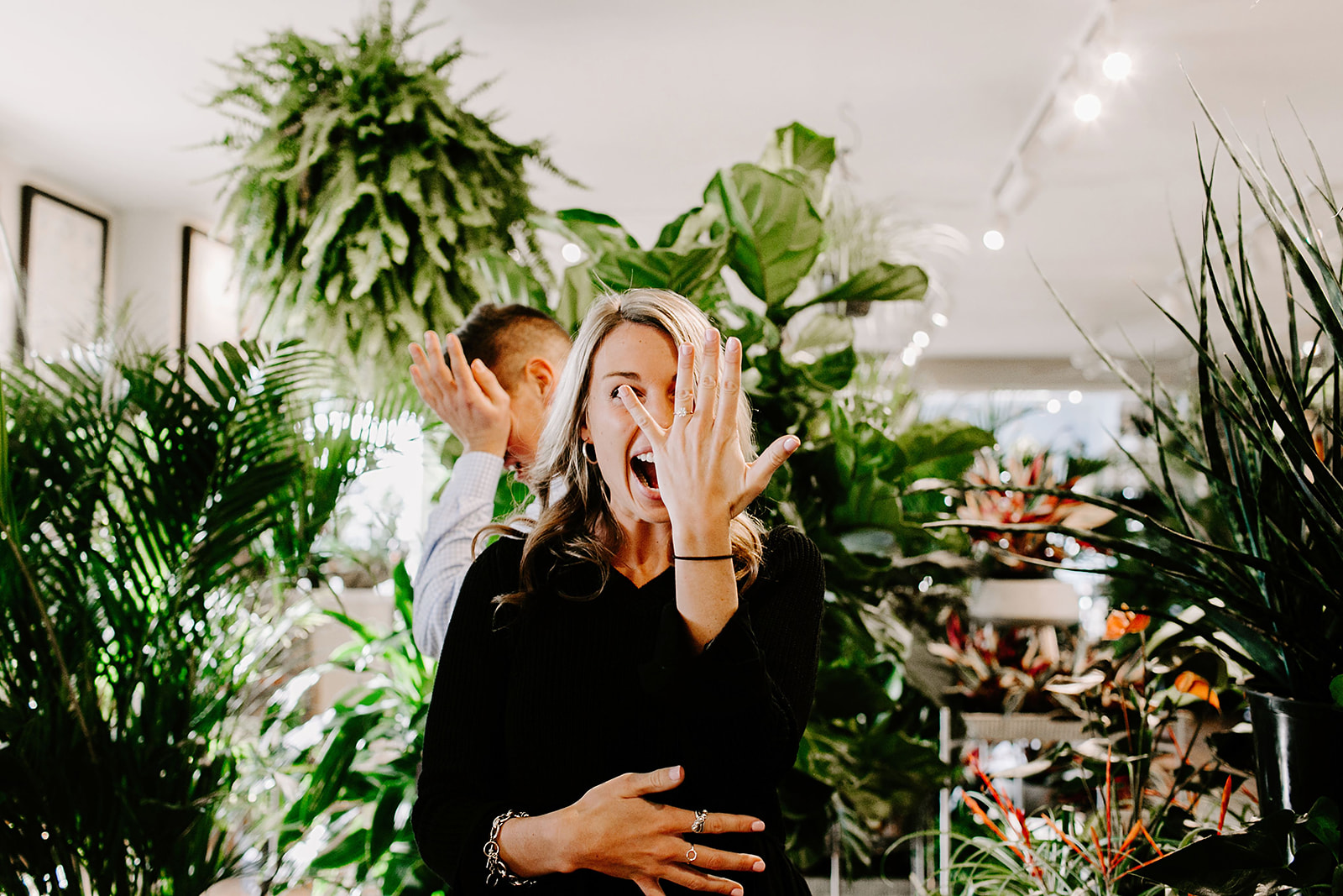 Lindy and JT Proposal at Allisonville Nursery in Indianapolis Indiana by Emily Elyse Wehner Photography LLC-67.jpg
