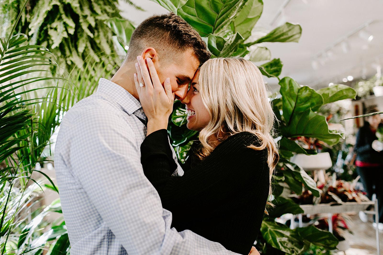 Lindy and JT Proposal at Allisonville Nursery in Indianapolis Indiana by Emily Elyse Wehner Photography LLC-94.jpg