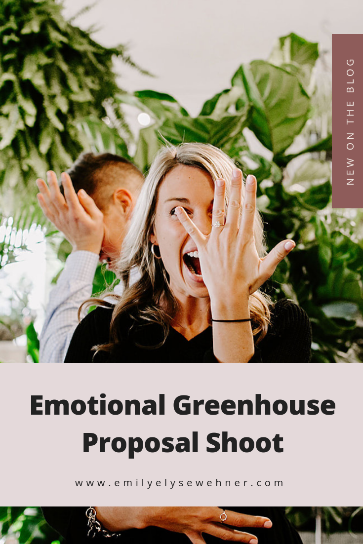 Browse this emotional proposal shoot at Allisonville Garden & Home in Indianapolis, Indiana | Emily Elyse Wehner Photography #proposal #greenhouseshoot