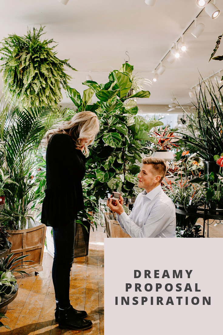Browse this emotional proposal shoot at Allisonville Garden & Home in Indianapolis, Indiana | Emily Elyse Wehner Photography #indianaphotographer #proposal #greenhouseshoot