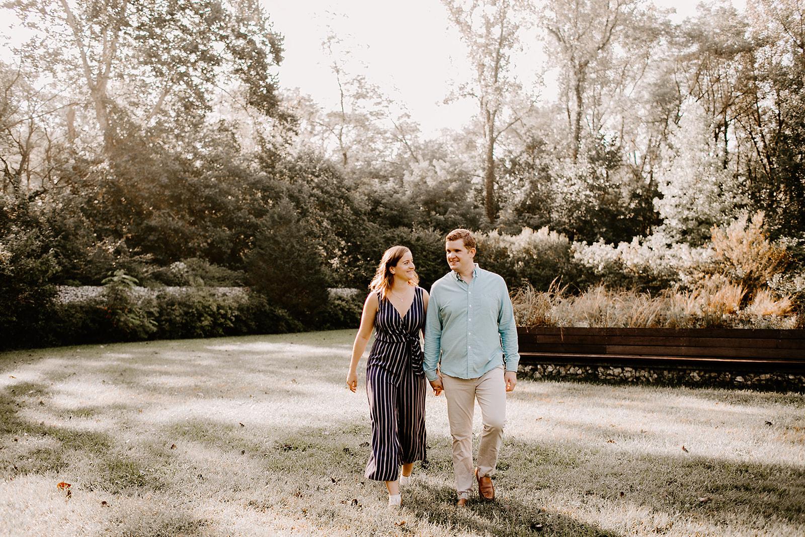 Allie and Josh engagement session 100 Acre Woods Indianapolis Indiana Emily Elyse Wehner Photography