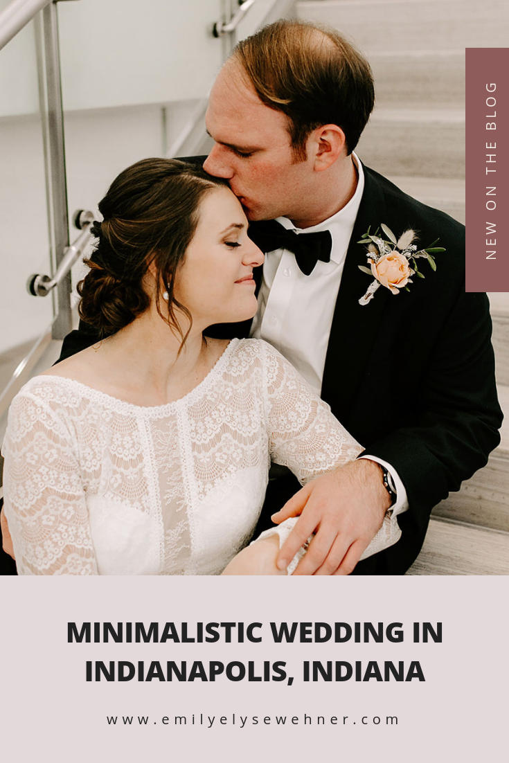 Browse through the blog of this winter minalisitc wedding in Indianapolis, Indiana | Wedding day portraits, wedding dress inspiration, wedding inspiration | Emily Wehner Photography #weddinginspiration #wedding #indianaweddingphotographer