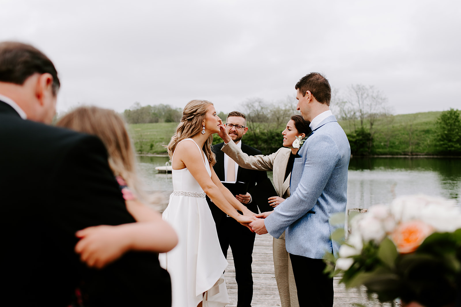 Traders Point Creamery Elopement in Zionsville, Indiana | Wedding vows, photography by Emily Wehner