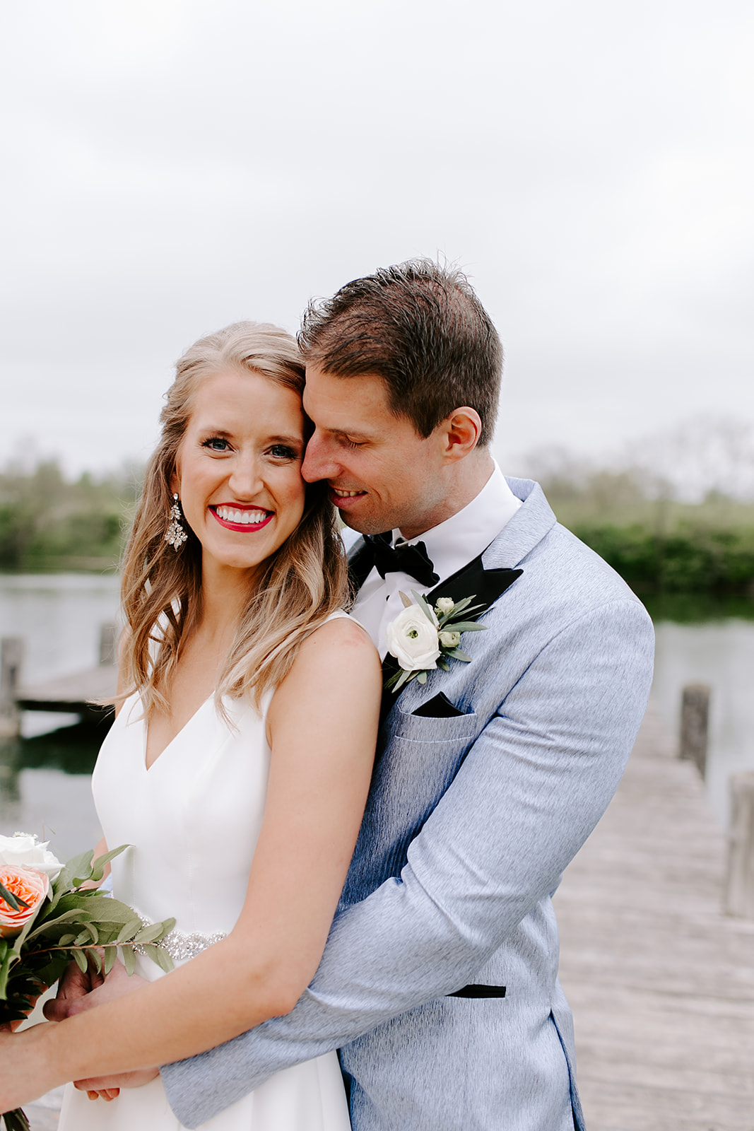 Bride and groom portraits, Indiana wedding