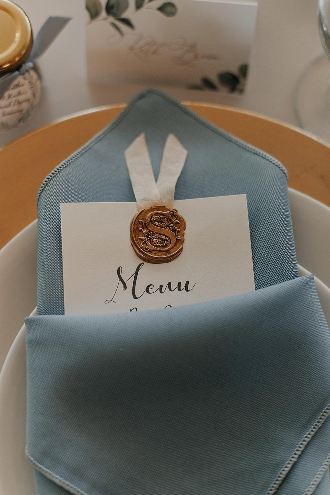wedding menu dessert ideas