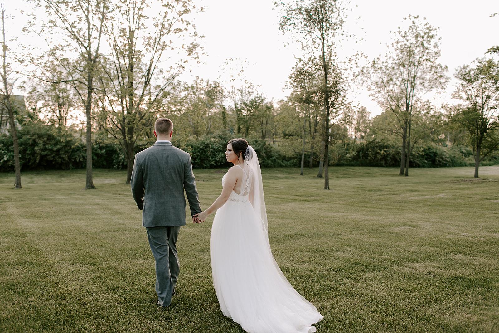bride and groom portraits | Yorktown, Indiana Wedding by Emily Elyse Wehner, Indiana wedding photographer