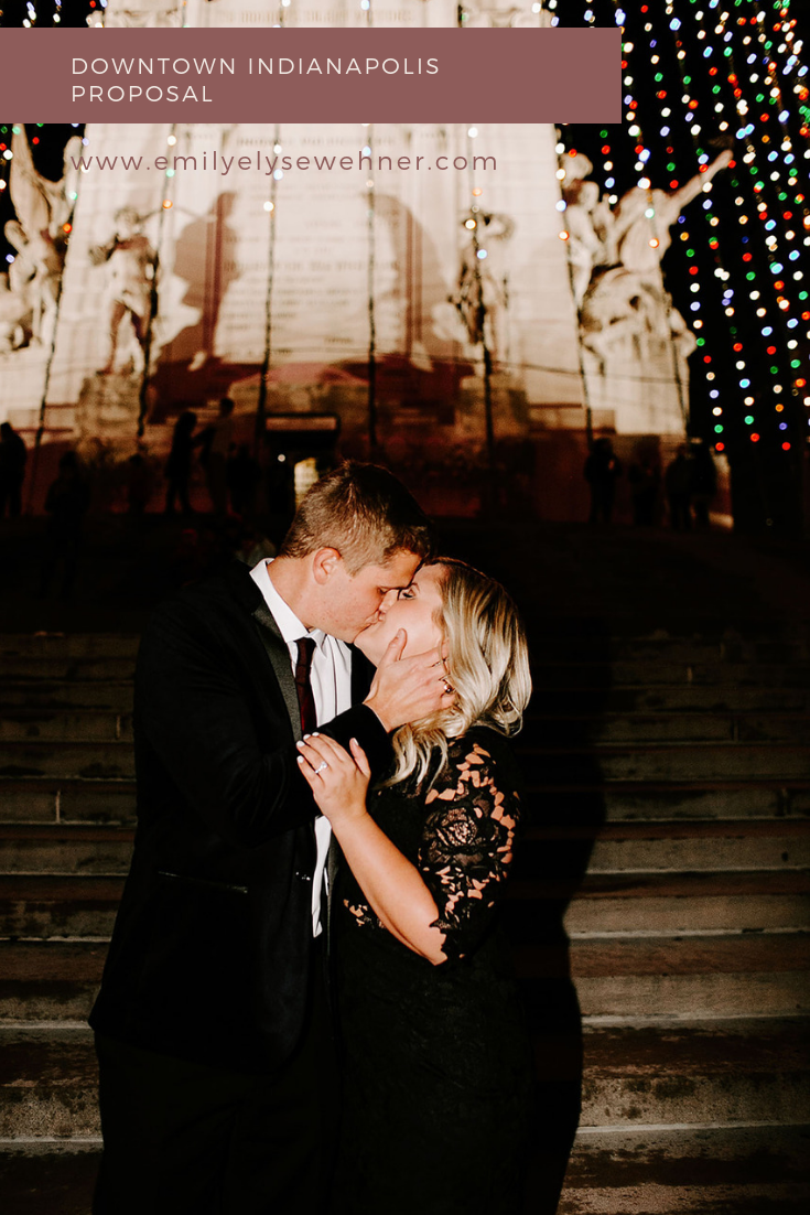 Downtown Indianapolis Proposal by Emily Wehner Photography