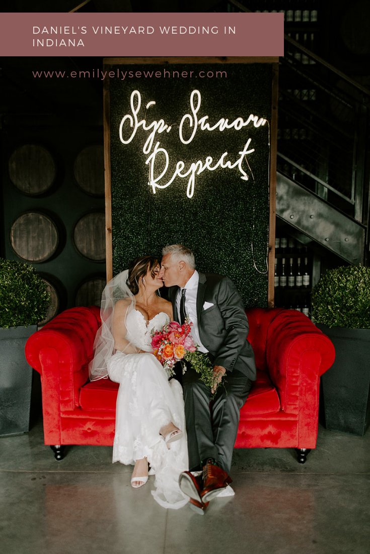 Daniel's Vineyard Wedding in Indiana by Emily Elyse Wehner Photography