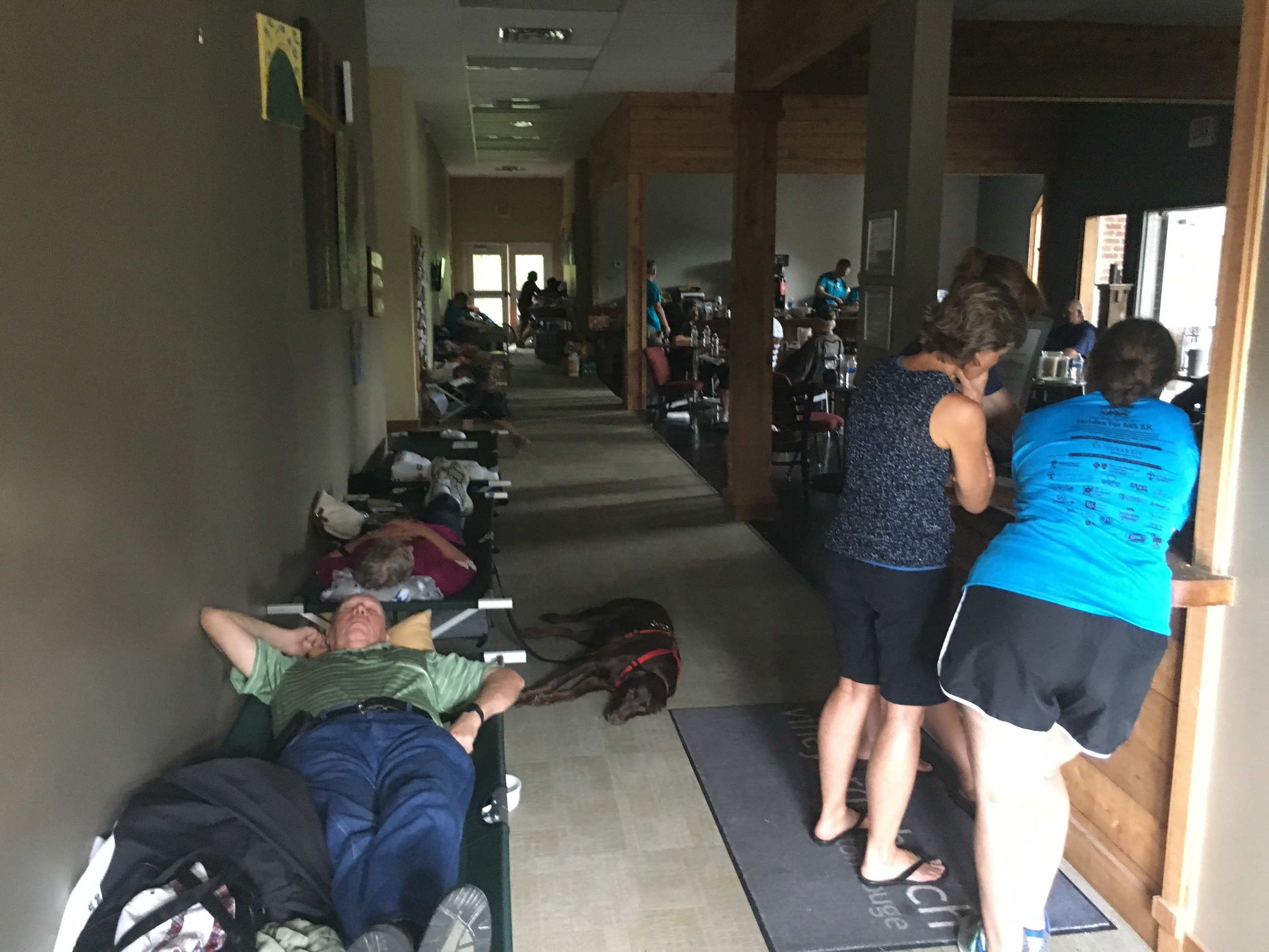 Close to 200 people were housed at our temporary shelter.