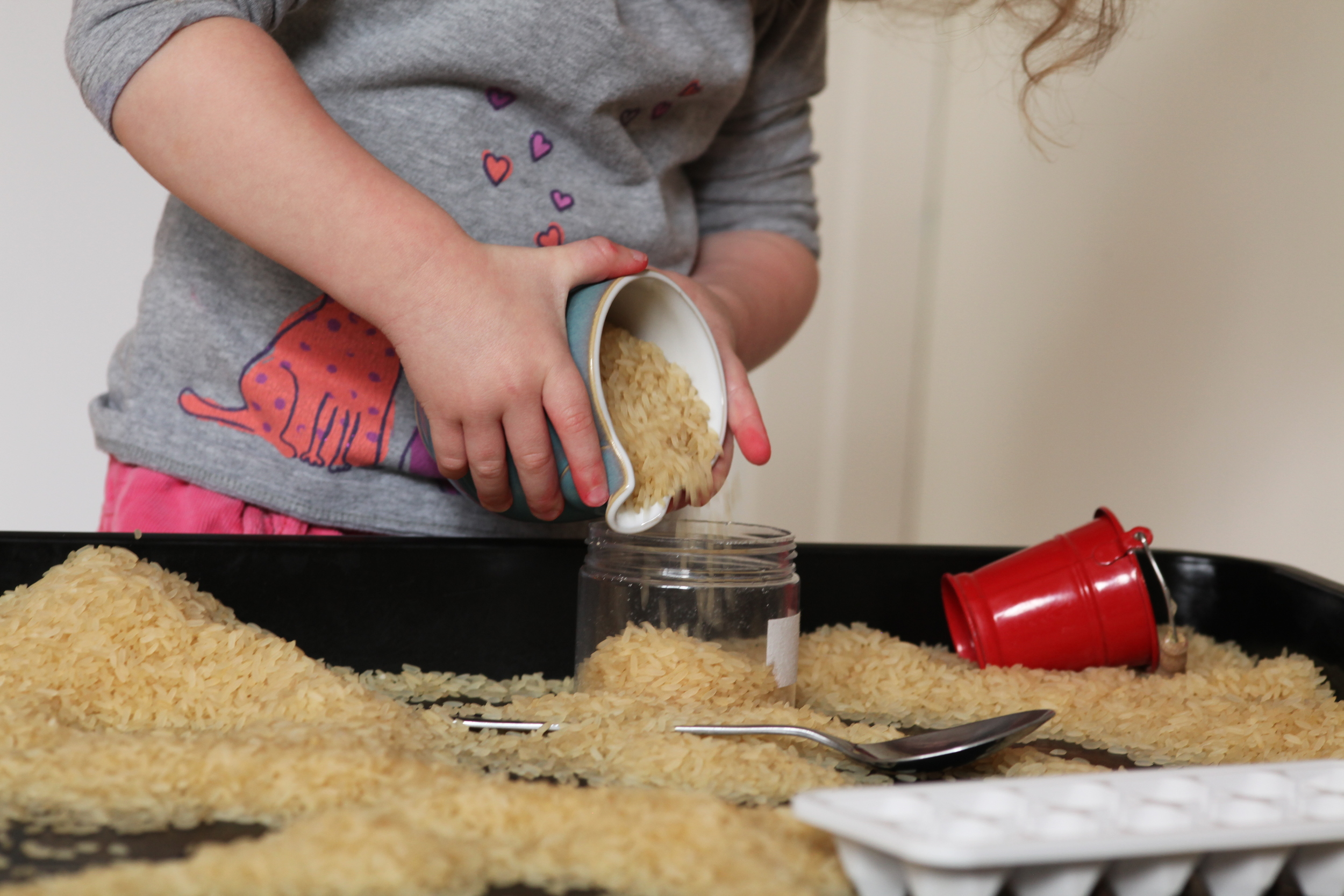 Sensory Play Friday: Rice Exploration