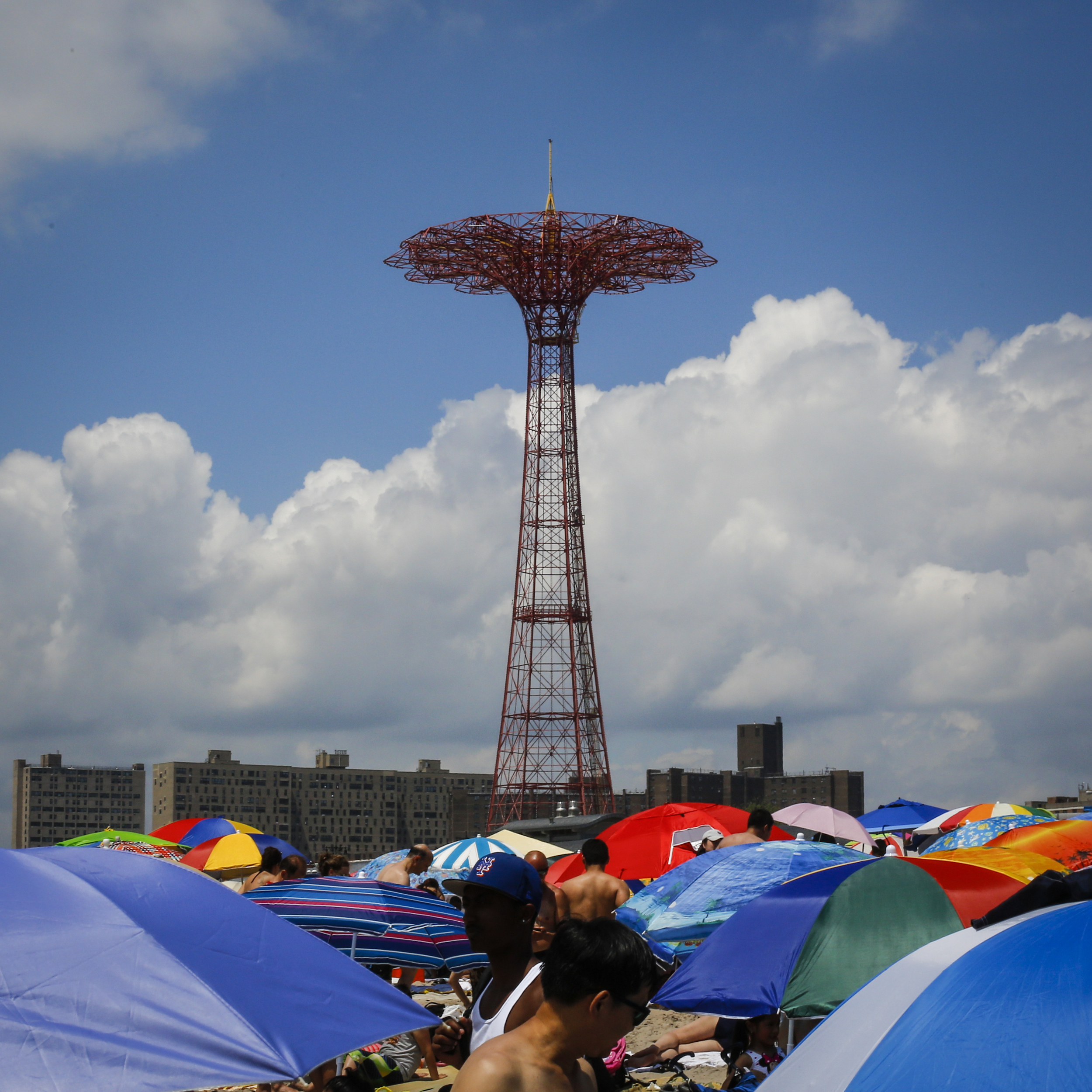 The 262- foot Parachute Jump at Fourth of July International Hot Dog Eating Contest at Coney Island in Brooklyn, N.Y. on Thursday, July 4, 2013.