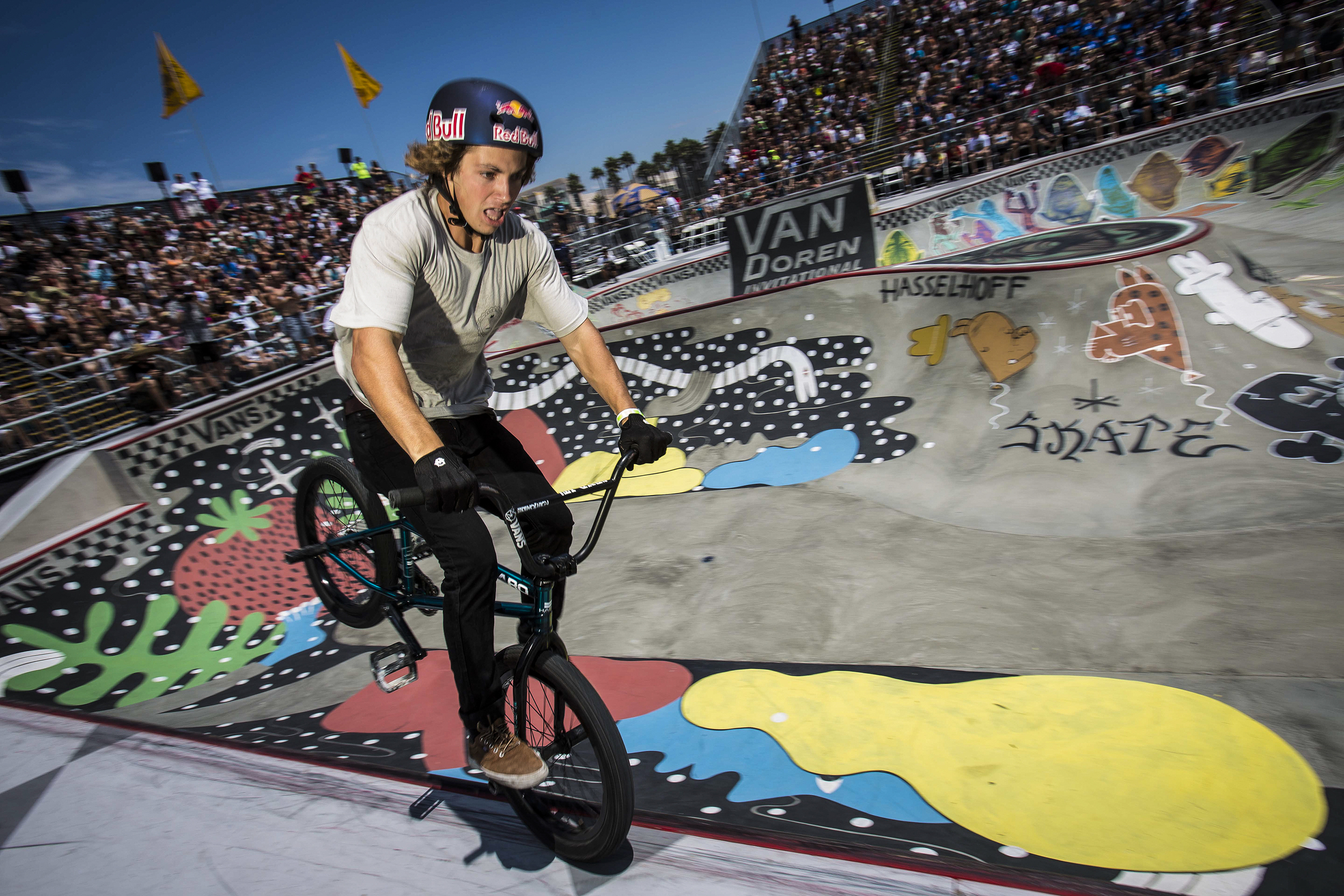 Tyler Fernengel competes in the Van Doren Invitational at Huntington Beach on the last day of the Vans US Open at the Huntington Beach Pier in Huntington Beach on Sunday August 03, 2014.
